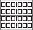 garage door 6x4 squares